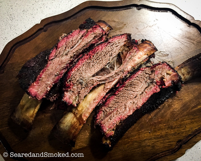 Smoked Beef Ribs on the Big Green Egg