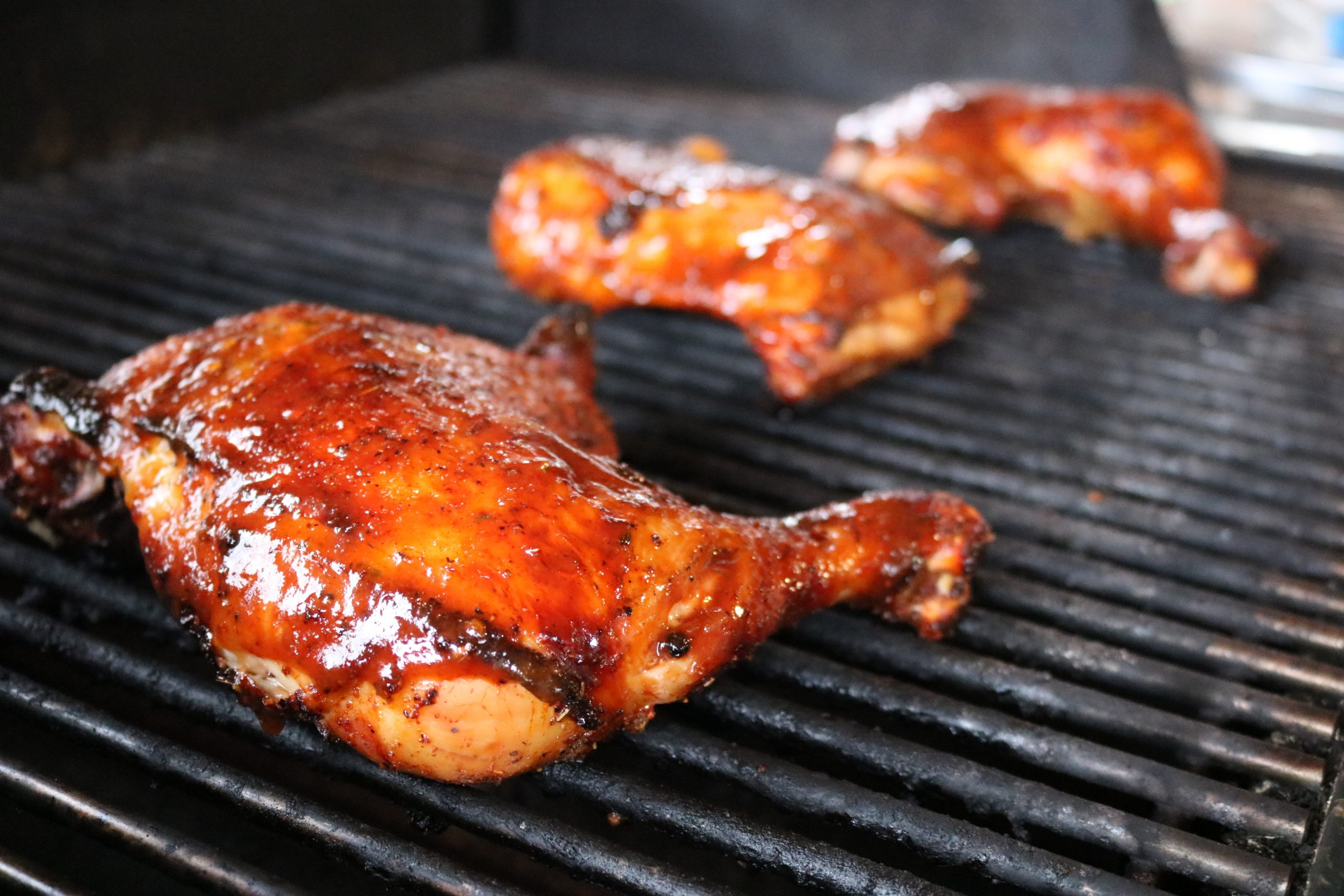 marinated and rubbed bbq chicken