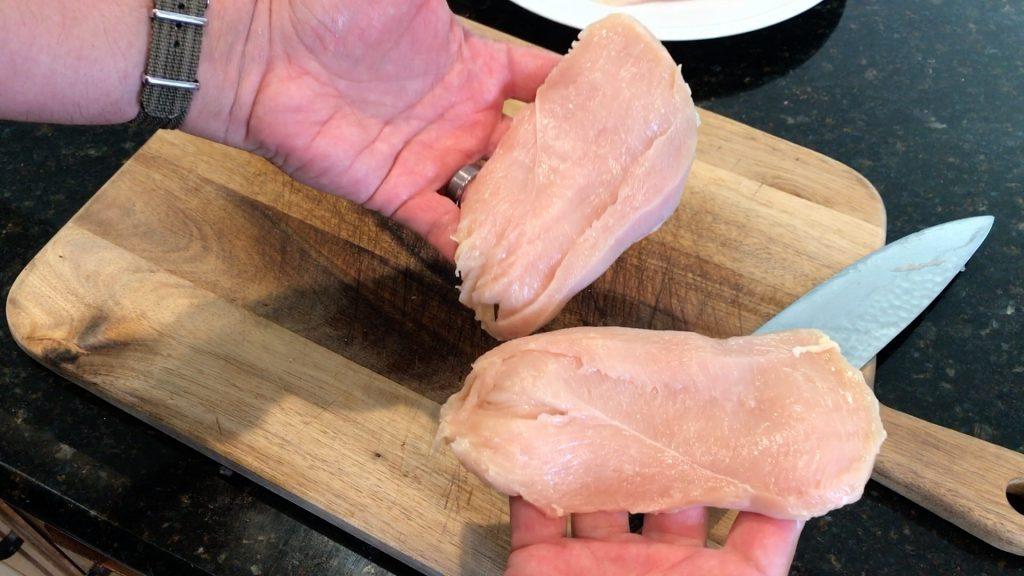 halved chicken breast