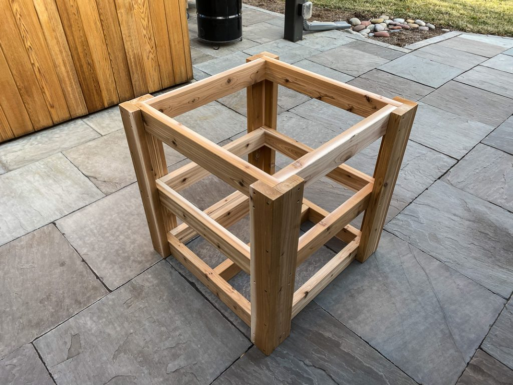 compact green egg table framing