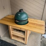 Big Green Egg Table Plans for a Compact Modern Table