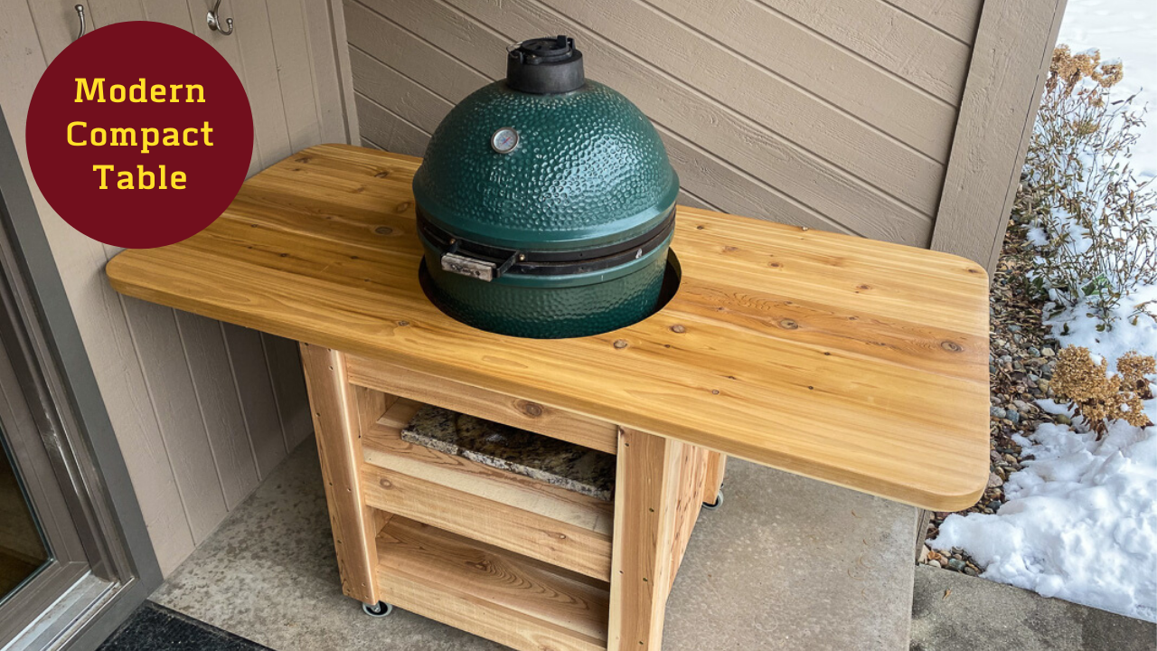 modern big green egg table