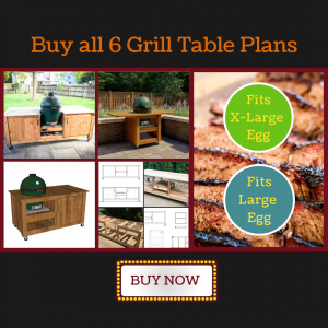 buy 6 green egg grill table plans