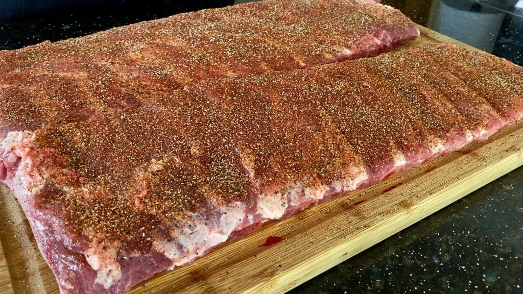 st louis ribs with amazing dry rub