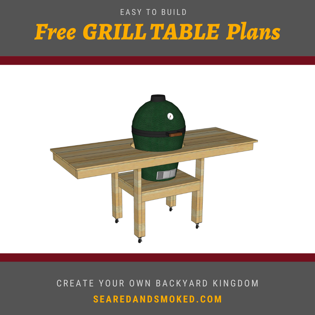 Free Grill Table Plans for Big Green Egg
