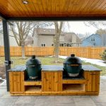 Double Big Green Egg Table Plans