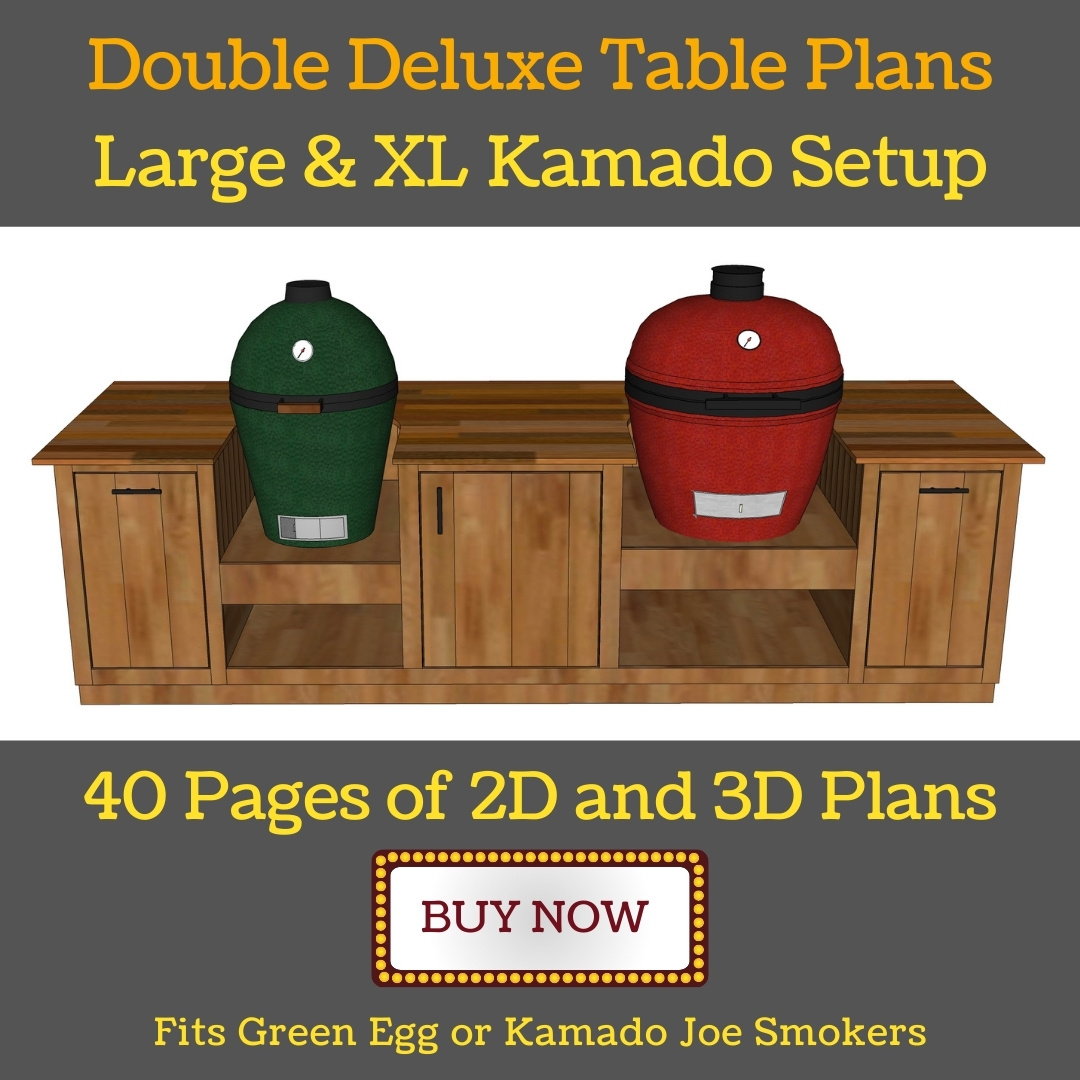 one large and one XL green egg table