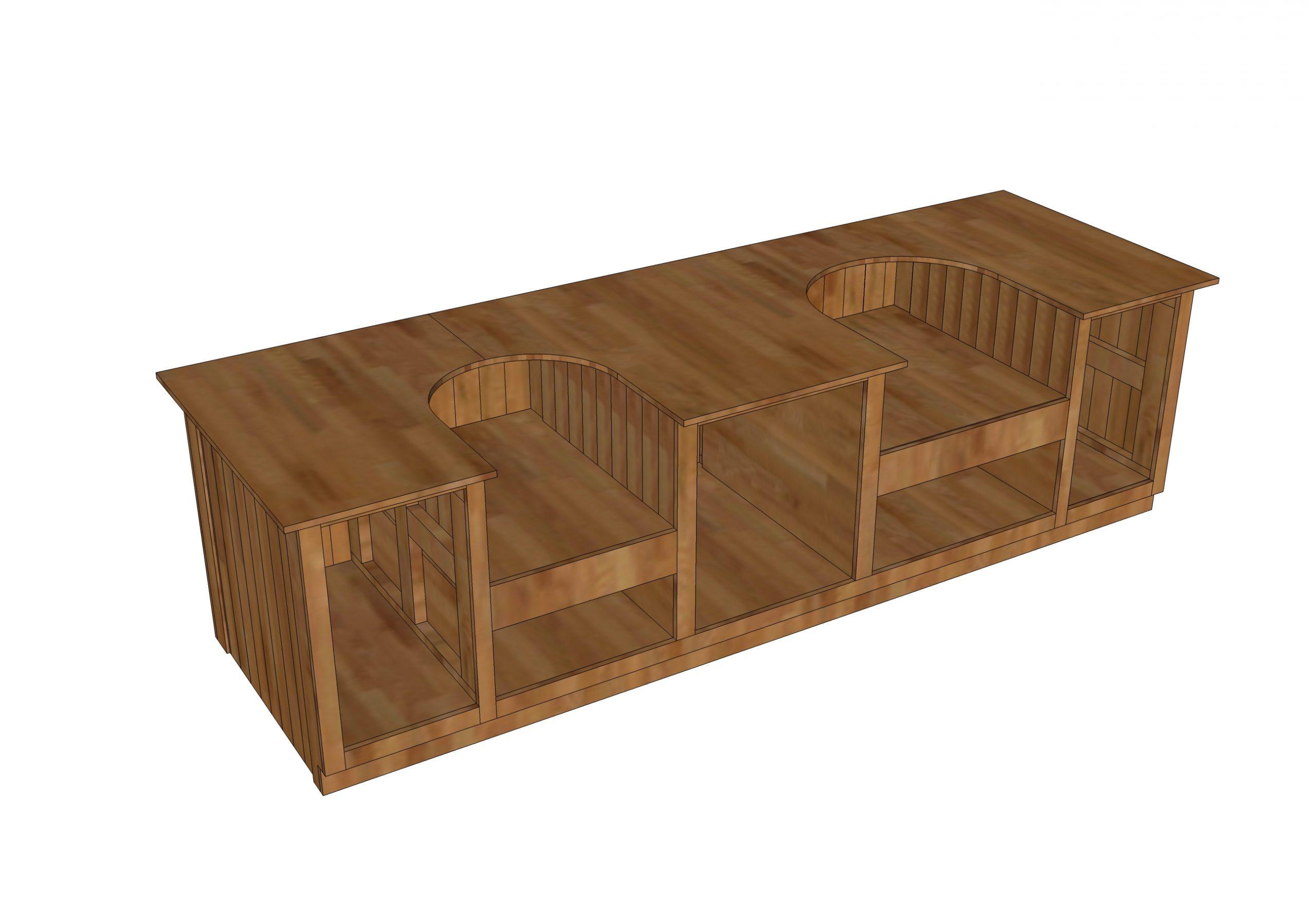 double egg table plans or double kamado joe table plans