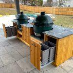 diy outdoor kitchen for green egg or kamado joe